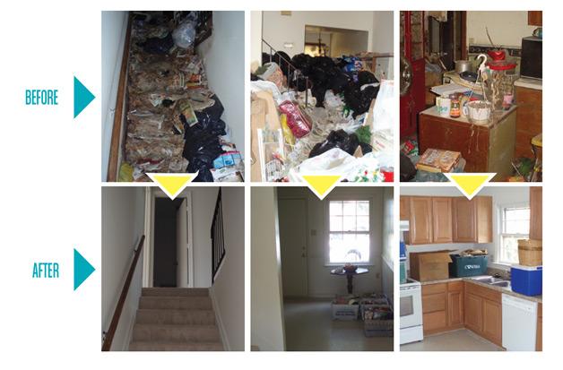 Hoarding cleanups in longview