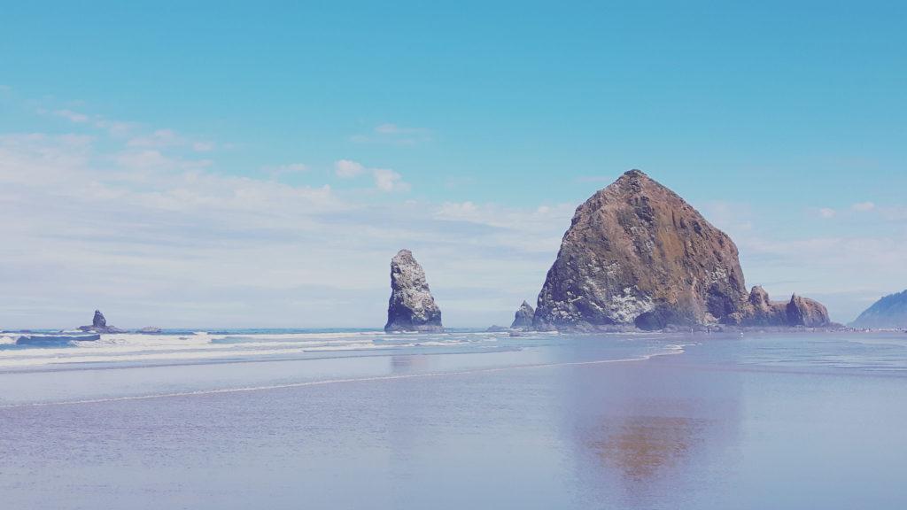 Beach landscape is Clatsop County, Oregon